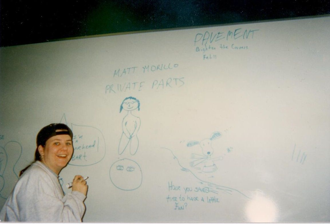 Jenn's stellar drawing of me - 1997