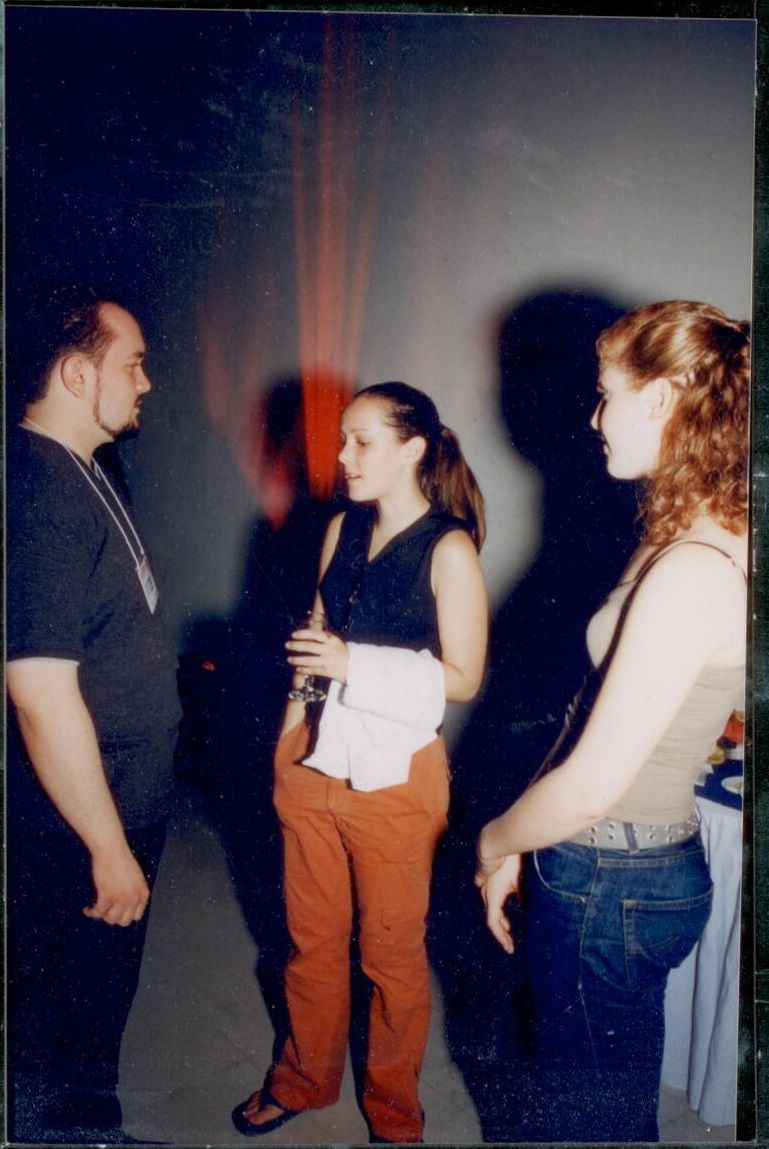 Jenna Malone and me at the Stony Brook Film Festival - 2001