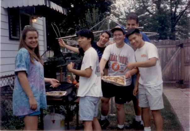 Long Island backyard BBQ - 1994