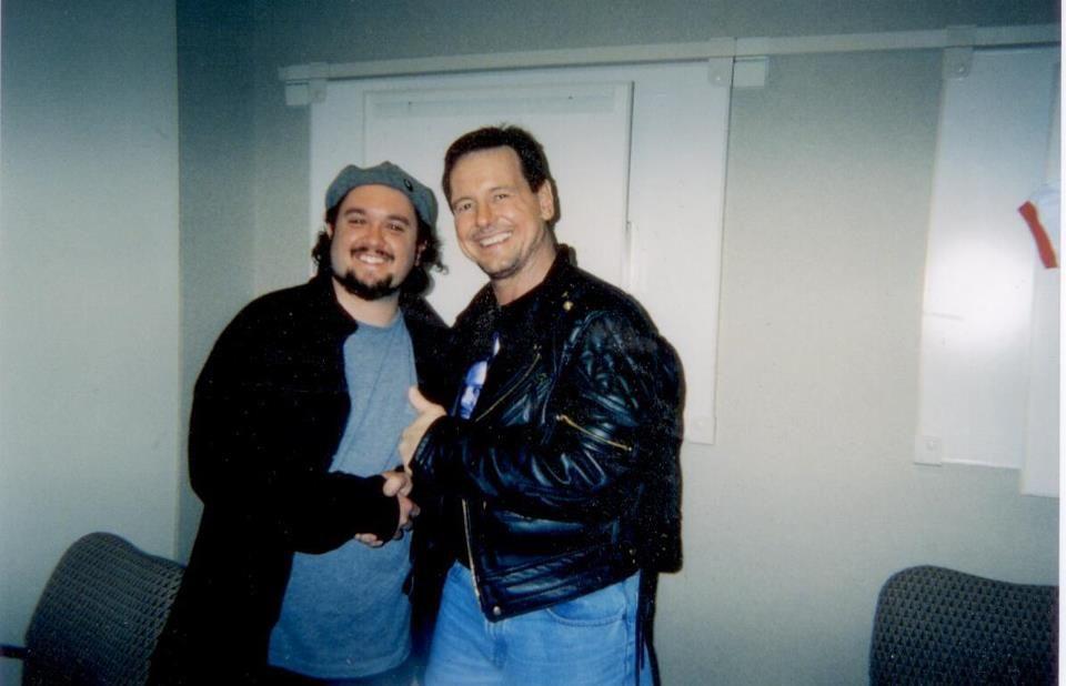 Meeting a legend - April 2003