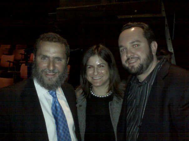 Matt and Rabbi Shmuley - April 2009