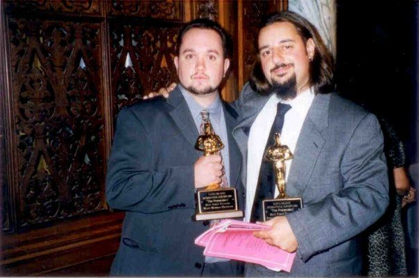 Receiving our first award for The Pretenders - August 2000