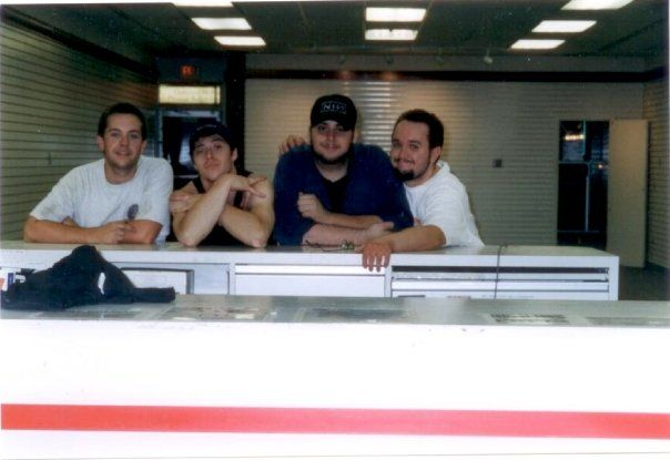The boys and me on the last day of the Huntington LaserLand - 2001