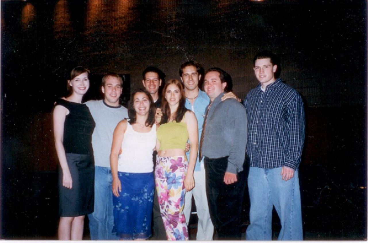 The cast of my first film (The Pretenders) and me. 2000